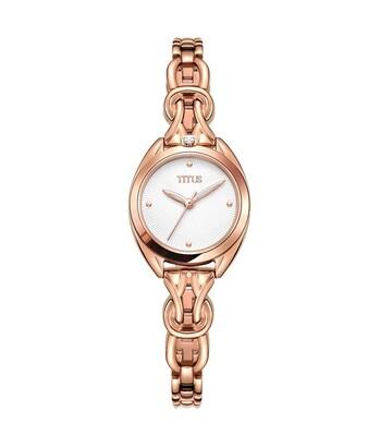 「約定」系列三針石英不鏽鋼腕錶