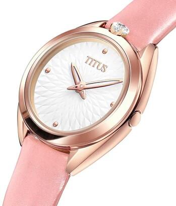 「約定」系列兩針石英皮革腕錶