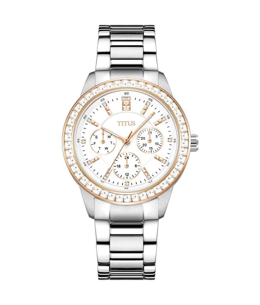 Fashionista Multi-Function Quartz Stainless Steel Watch
