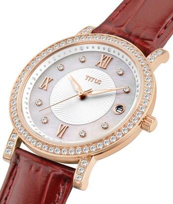 Fair Lady 3 Hands Date Quartz Leather Watch