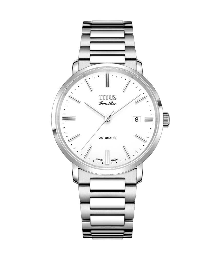 Sonvilier Swiss Made 3 Hands Date Mechanical Stainless Steel Watch