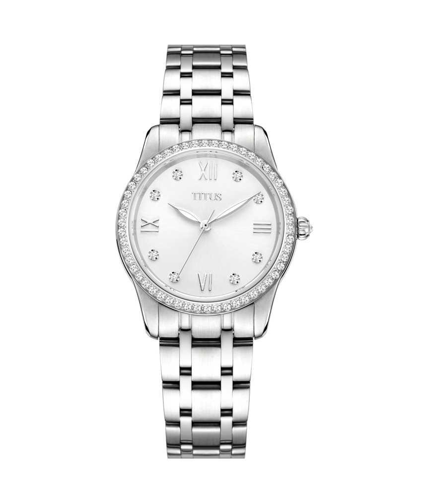 FairLady三針石英不鏽鋼腕錶