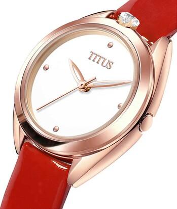「約定」系列三針石英皮革腕錶