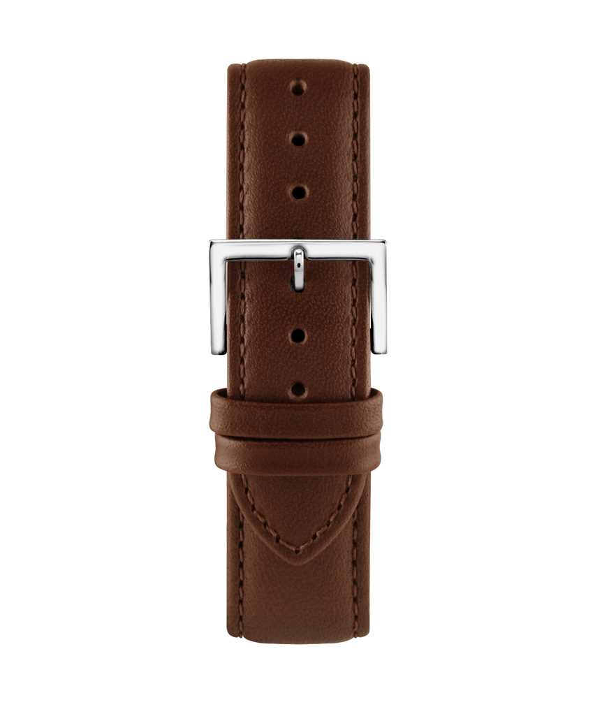 Montella 18 mm Brown Leather Strap