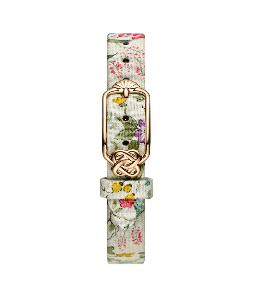 12 mm Peach Purple Floral Japanese Fabric Watch Strap