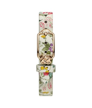 12 mm Peach Purple Floral Japanese Fabric Watch Strap
