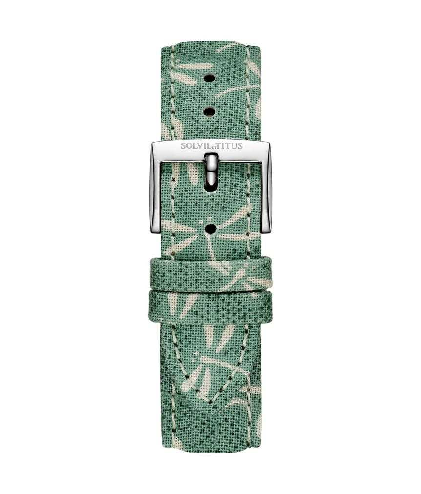 16 mm Grassy Green Japanese Fabric Watch Strap
