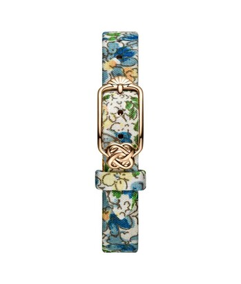 12 mm Blue Floral Japanese Fabric Watch Strap