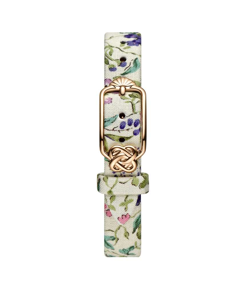 12 mm Purple Pink Floral Japanese Fabric Watch Strap