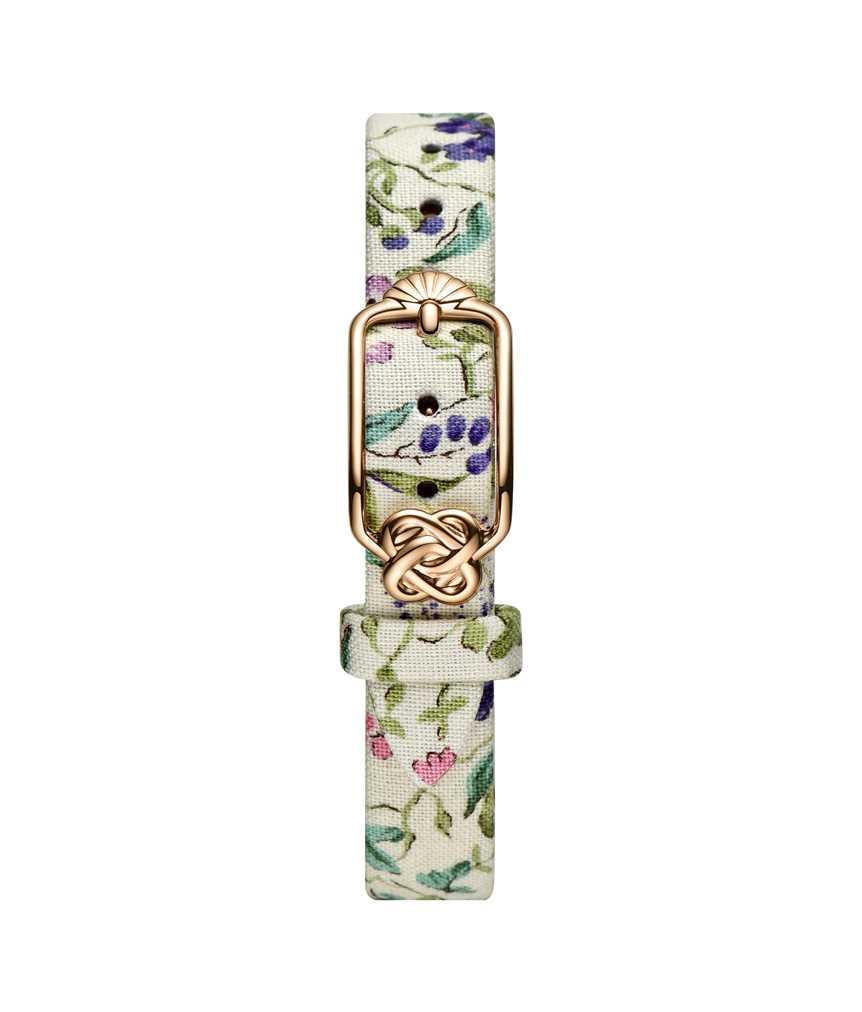 12 mm粉紫碎花日系織布錶帶