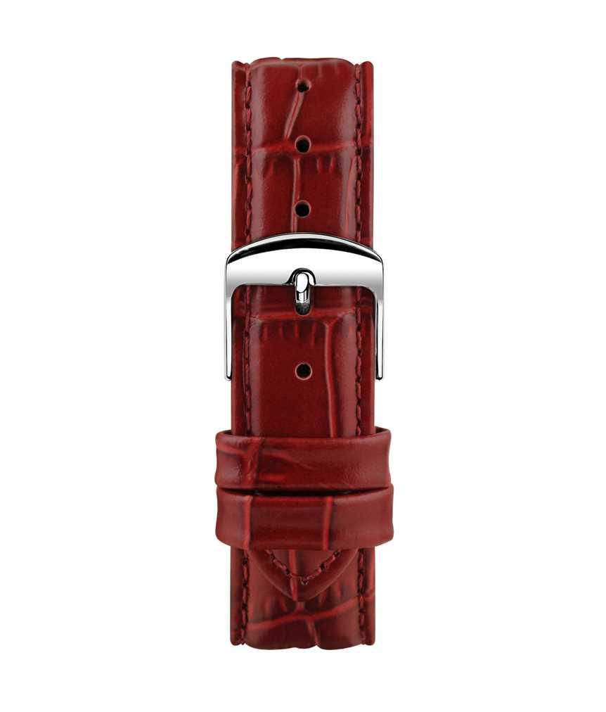 Montella 18 mm Burgundy Leather Strap