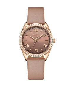 Fair Lady 3 Hands Quartz Leather Watch