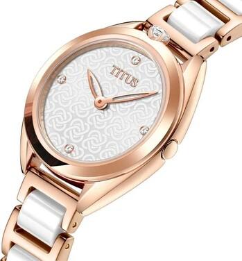 「約定」系列兩針石英不鏽鋼配陶瓷腕錶