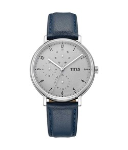Interlude Multi-Function Quartz Leather Watch