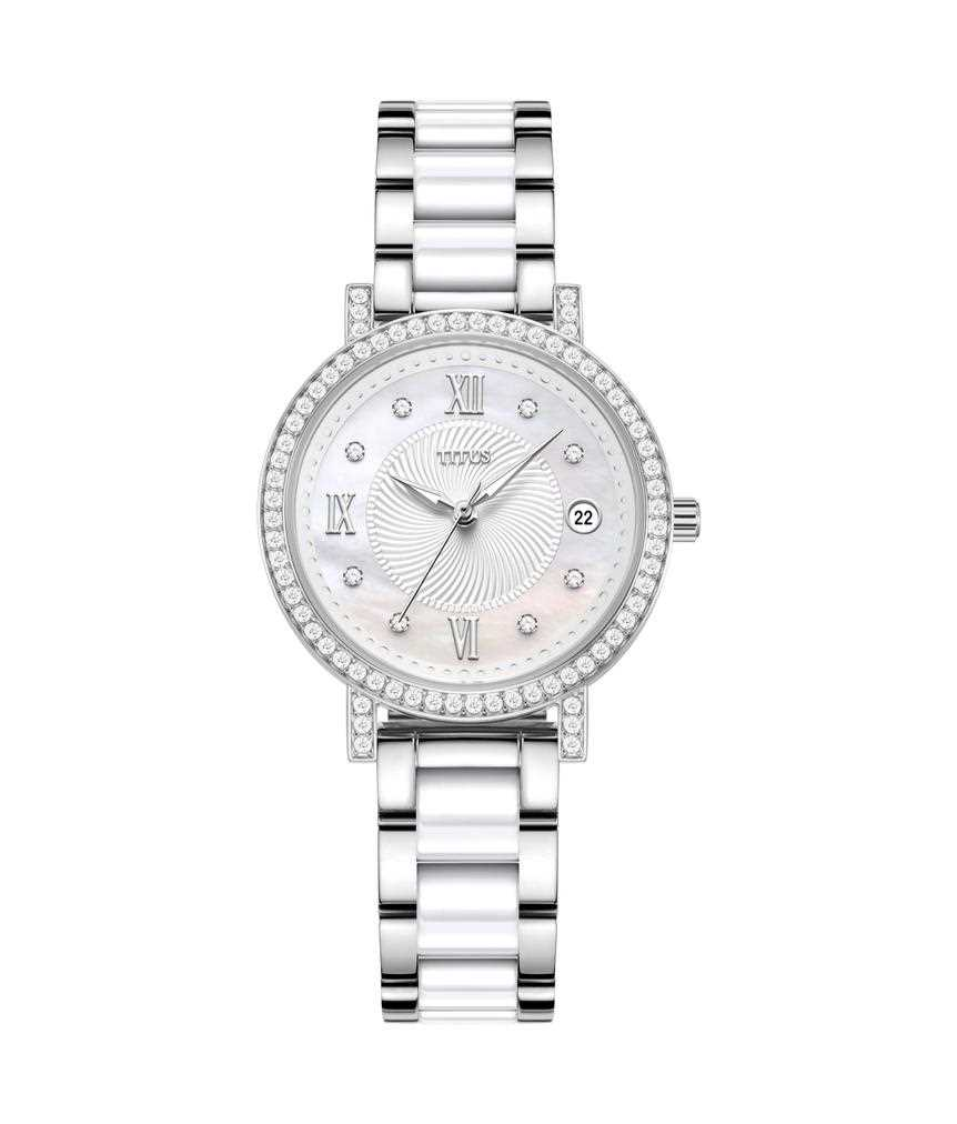 Fair Lady 3 Hands Date  Stainless Steel with Ceramic Watch