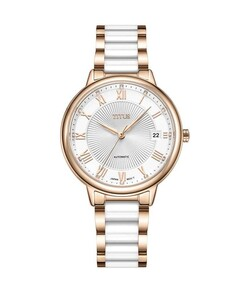 Fair Lady 3 Hands Date Mechanical Stainless Steel with Ceramic Watch