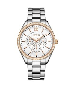 Fashionista Multi-Function Quartz Stainless Steel Watch