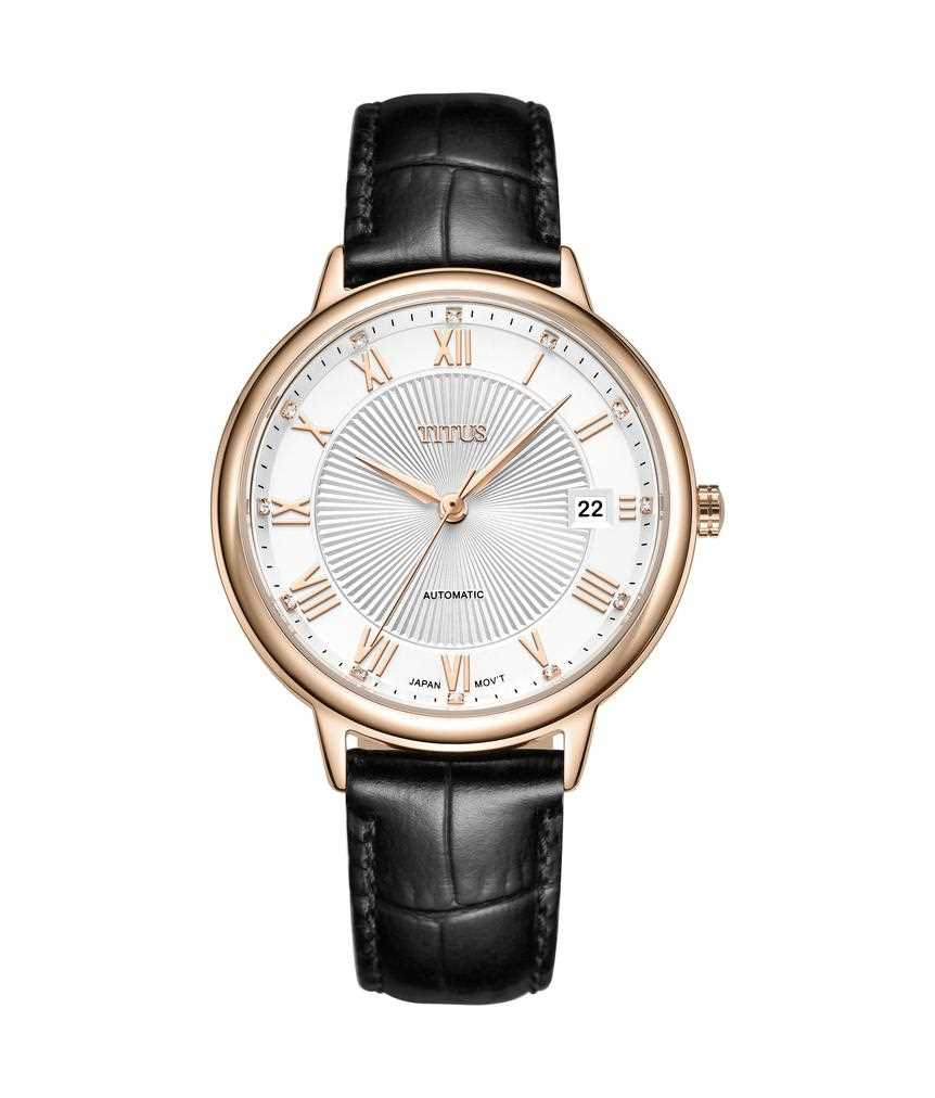 Fair Lady 3 Hands Date Mechanical Leather Watch