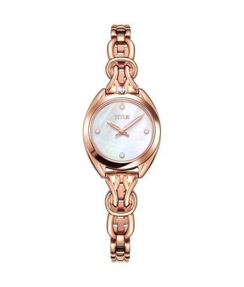 「約定」系列兩針石英不鏽鋼鑽石腕錶