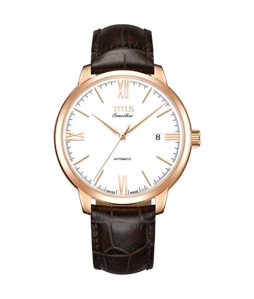 Sonvilier Swiss Made 3 Hands Mechanical Leather Watch