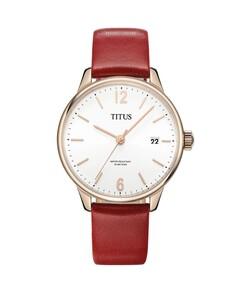 Interlude 3 Hands Date Quartz Leather Watch