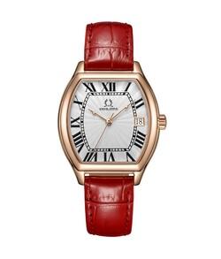 Barista三針日期顯示石英皮革腕錶