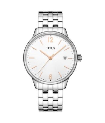 Interlude三針日期顯示石英不鏽鋼腕錶
