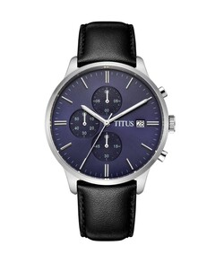 Modernist Chronograph Quartz Leather Watch