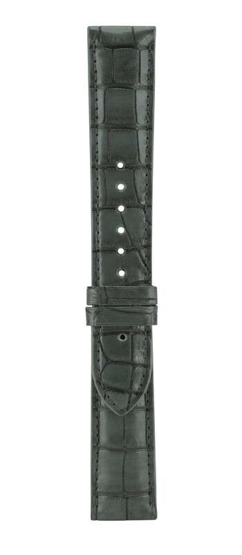 20 mm Charcoal Grey Alligator Leather Watch Strap