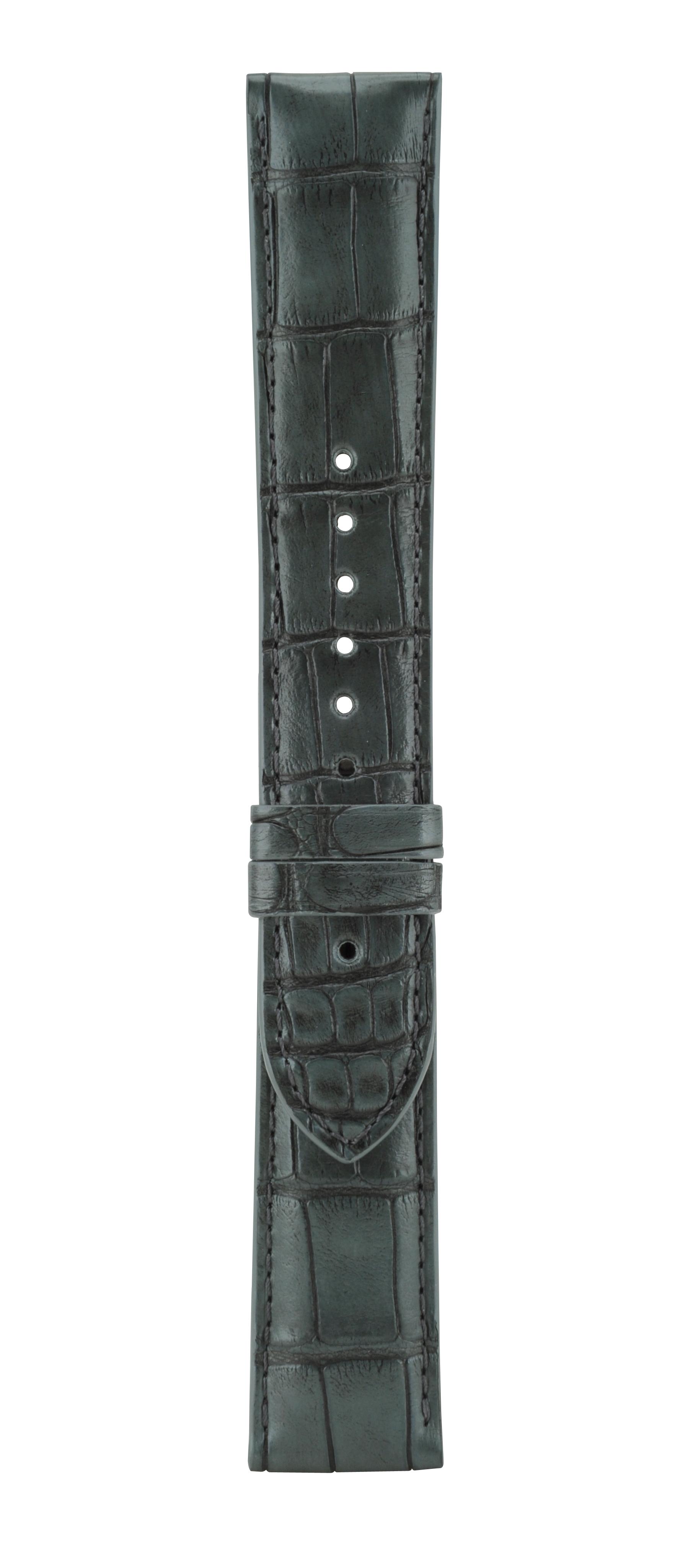 22 mm炭灰色鱷魚皮革錶帶