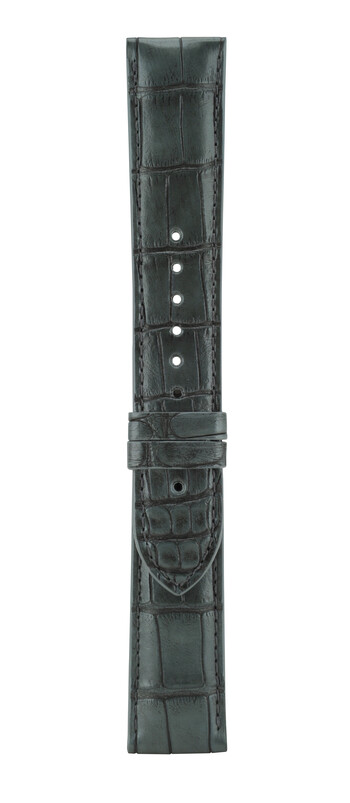 22 mm Charcoal Grey Alligator Leather Watch Strap