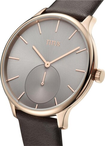Interlude 2 Hands Small Second Quartz Leather Watch