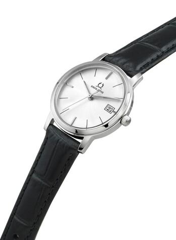 Vintage 3 Hands Date Quartz Leather Watch