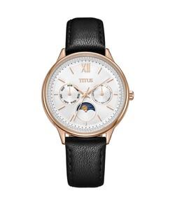 Fashionista多功能石英皮革腕錶