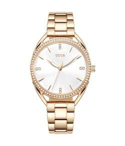Fashionista三針石英不鏽鋼腕錶