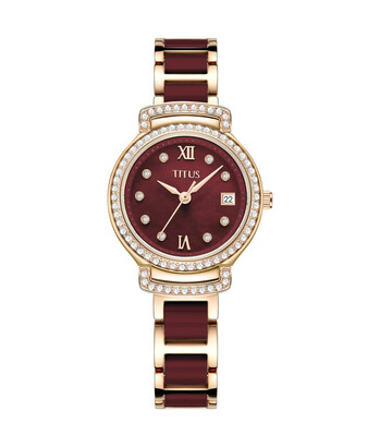 Fair Lady 3 Hands Date Quartz Stainless Steel with Ceramic Watch