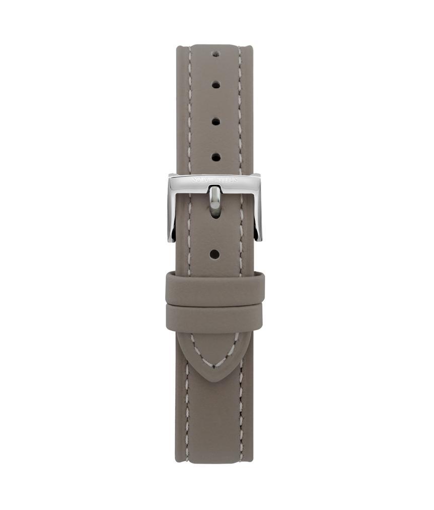 16 mm灰色無壓紋皮革錶帶