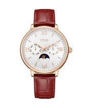 Fashionista Multi-Function Quartz Leather Watch
