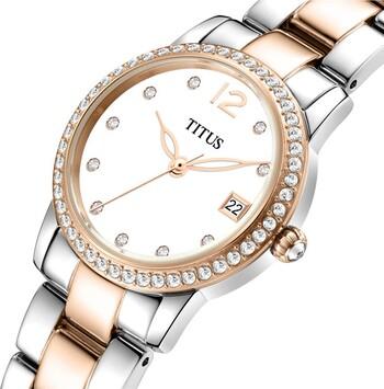 Fair Lady石英皮革腕錶