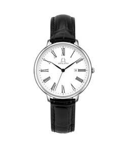 Vintage三針日期顯示石英皮革腕錶