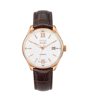 Sonvilier瑞士製三針自動機械皮革腕錶