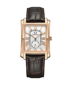 Vintage 2 Hands Small Second Quartz Leather Watch