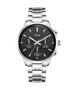 Modernist Multi-Function Quartz Stainless Steel Watch
