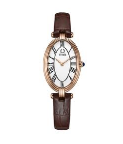 Love Story兩針石英皮革腕錶