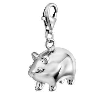 Solvil et Titus 925 Sterling Silver Piggy Charm