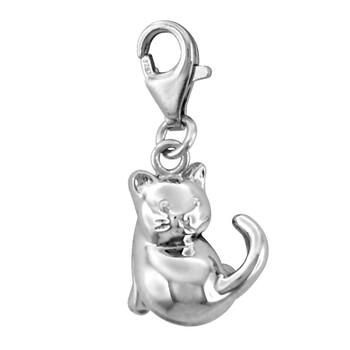 Solvil et Titus 925 Sterling Silver Kitten Charm
