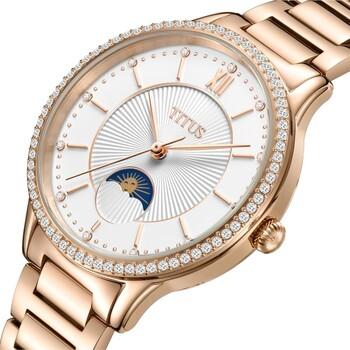 Fair Lady多功能石英不鏽鋼腕錶