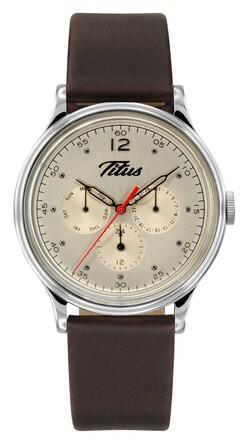 Vintage Multi-Function Quartz Leather Watch
