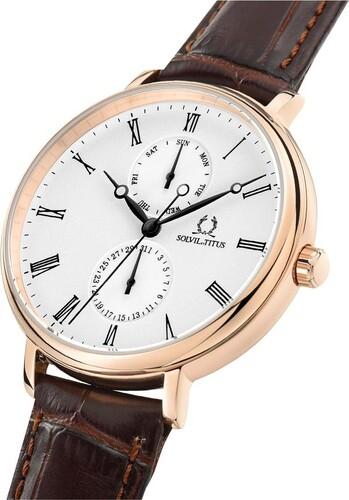 Classicist Multi-Function Quartz Leather Watch