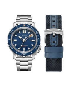 Modernist 3 Hands Date Quartz Stainless Steel Watch Box Set